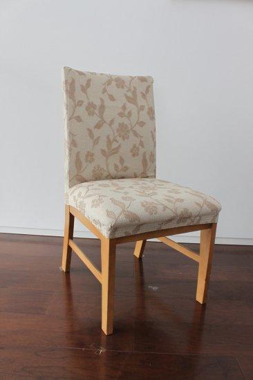 スペイン製ストレッチチェアカバー(椅子カバー):ダブリン 座面2枚組1900円又は背付4200円より