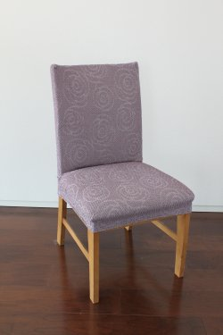 【縦横ストレッチ】スペイン製チェアカバー(椅子カバー):「ロゼ」 座面2枚組1990円又は背付3990円