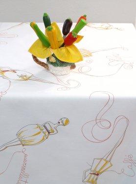 B品テーブルクロス「モデル/イエロー」140×220 2000円