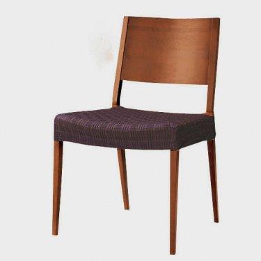 スペイン製ストレッチチェアカバー(椅子カバー):ティセ座面2枚組1900円