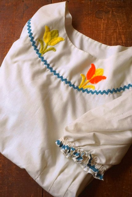 USA VINTAGE《CITRUS TULIP EMBROIDERY ...