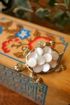 USA VINTAGE《SWIMMING TURTLE ×MYSTIC SHELL☆》シェルの甲羅が可愛い亀のブローチ 【送料80円(メール便)】