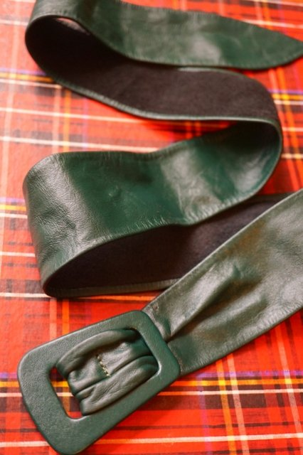 """USA VINTAGE""""FOREST GREEN♪""""LEATHER ..."""