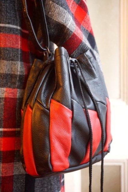"""USA VINTAGE""""BLACK&RED""""DRAWSTRING PUMPKIN BAG(リバーシブル★)"""