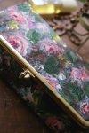 3b98f47dab7b USA50-60's Vintage《グレイッシュRose☆》裏地のPINKの方が華やかな二つ折りSILKクラッチ【メール ...