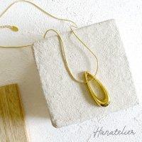 【18Kメッキ】GOLDドロップモチーフのネックレス【nec012】 46cm