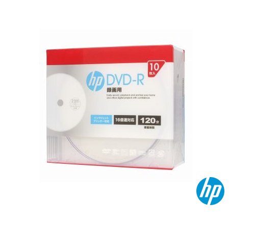 DVD-R CPRM対応 16倍速 10枚入 DR120CHPW10A