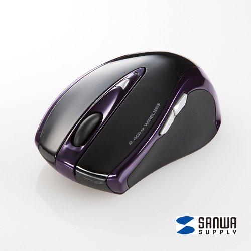 ワイヤレスマウス 5ボタン ブラック MA-NANOLS12BK