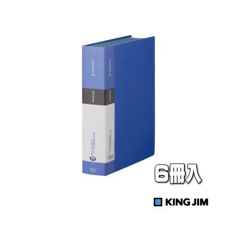 クリアーファイル A4S 青 100ポケット 6冊入 業務用パック 136-5SPアオ×6 ※送料無料