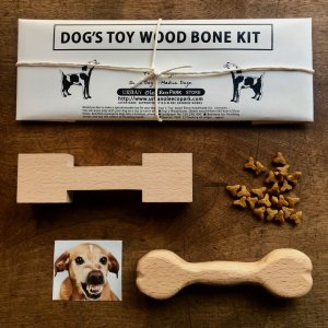 JAPANESE DOG`S TOY WOOD BONE WHITTLING KIT