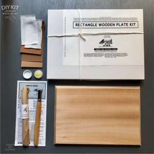 JAPANESE WOOD PLATE CARVING DIY KIT ( RECTANGLE )