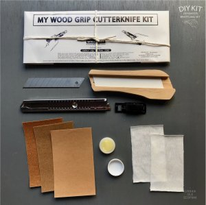 JAPANESE WOOD GRIP CUTTERKNIFE WHITTLING DIY KIT