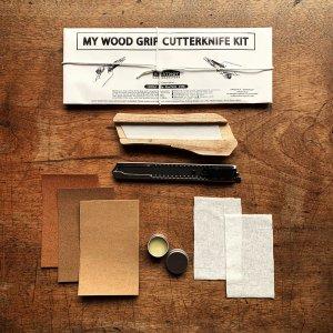 JAPANESE WOOD GRIP CUTTERKNIFE WHITTLING DIY KIT