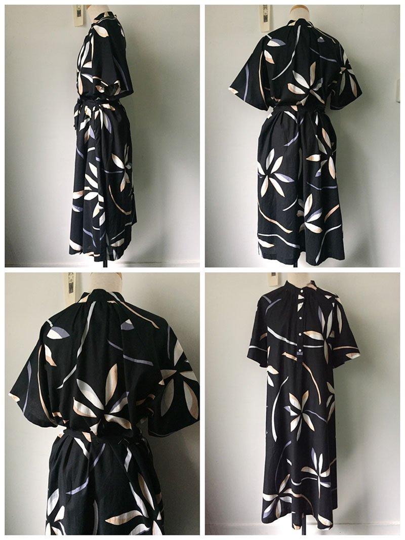 e323e3a496f6d Hungary vintage cotton dress (black × yellow × ivory)