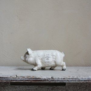 ��1940's CAST IRON PIG BANK