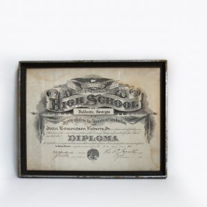 1925s HIGH SCHOOL GRADUATION FRAME OF PAPER