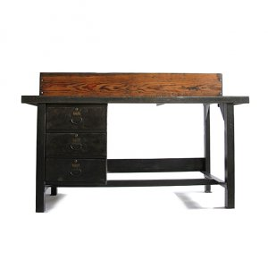 WW2 US MILITARY IRON TABLE