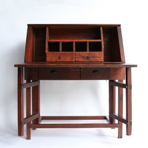 1930s US MARINE CORPS WOODEN WORK TABLE