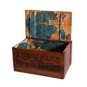 〜1920s ARBUCKLES ROASTER COFFEES WOOD BOX