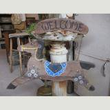 antique wood welcome bord アンティーク玄関プレート