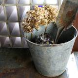 【SOLD】old bucket of tinplate (A)