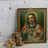 antique jesus of the art 古い壁掛け