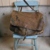 antique us mail leather bag