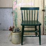 antique paint chair deep green 古い椅子