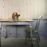 antique white paint table  白いテーブル