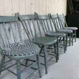 antique painted chair gry アンティーク木製チェアー