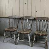 Shabby Chic wooden chairs