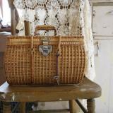 【SOLD】old rattan basket