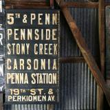 【SOLD】 1940's bus sign