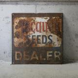old seed shop tin plate