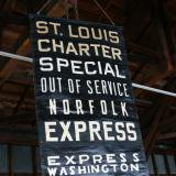 【SOLD】 antique bus sign