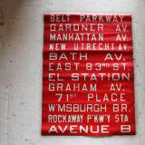 【sold】1940s brooklyn bus sign