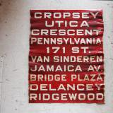 【SOLD】1940s new york bus sign