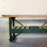 antique wooden company sign table