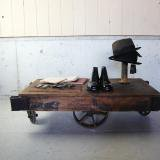 【sold】Antique wooden iron wheel dolly