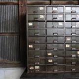 1930〜40s army green industrial shelf