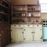 antique wooden  primitive shelf