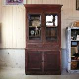 early 1900s antique cabinet red wood made