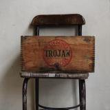 【SOLD】1920s trjon explosive chemicals wood box