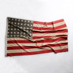 ANTIQUE 48 STARS FLAG