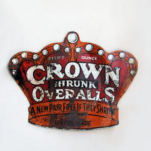 CROWN OVERALL STEEL SIGN BORD