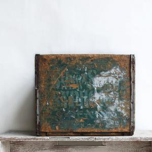 OLD WOOD BOX  GREEN