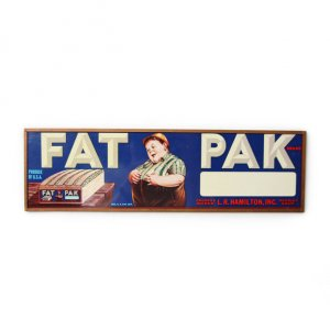 OLD FAT PAK PLATE