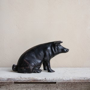 ��40's CAST IRON MONEY BANK