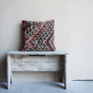 OLD KILUM HANDWOVEN WOOL CUSHION