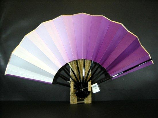 A181 舞扇子 紫横ぼかし 分金